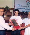 Awarded by The Society of Professionals for becoming No 1 Amateur