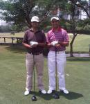 Karan & I played our 1st Round of Golf at DLF after seven years !