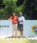 Rahul Bakshi and Me at Faldo Series Final at Brazil 2009