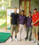 With Daniel Vettori and Glenn McGrath