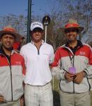 With Karan Bindra and Adam Scott - Johnnie Walker Classic 2008