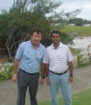 With my childhood idol Nick Faldo in Brazil
